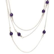 Sautoir violette