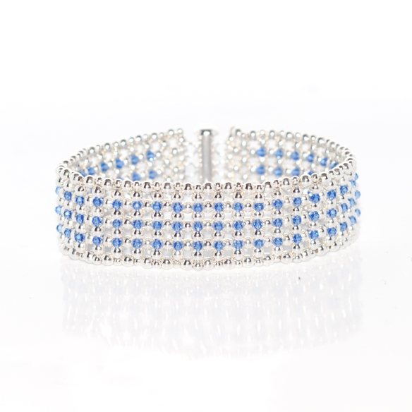 Bracelet Blue Elegance by Leonor Heleno Designs (1)