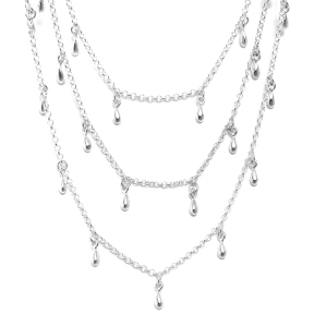 Necklace Silver Rain square