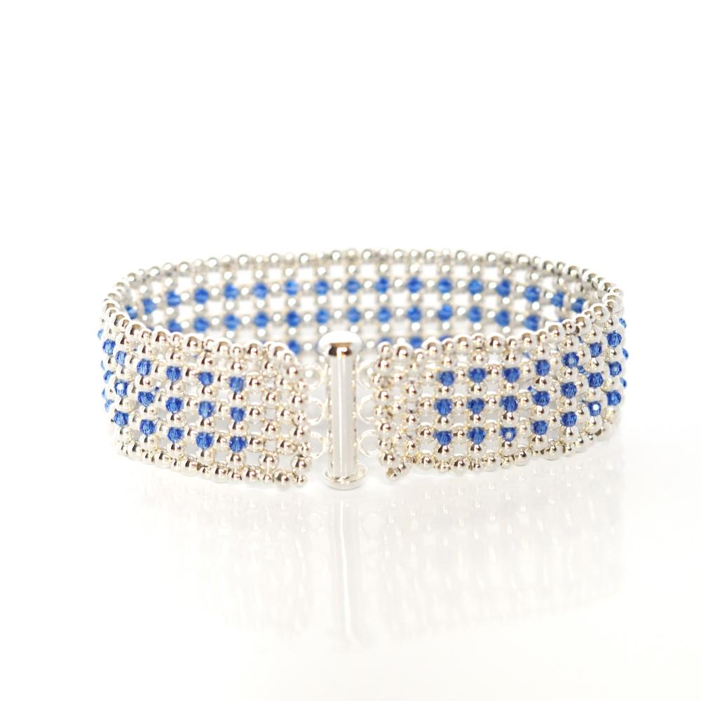 Bracelet Manchette Élégance Bleue (4/6)