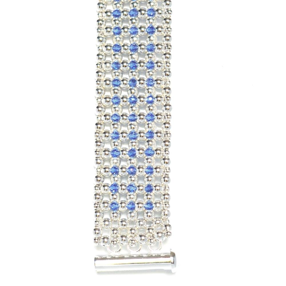 Bracelet Manchette Élégance Bleue (6/6)