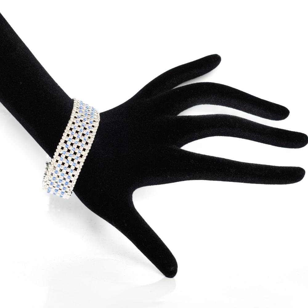Bracelet Manchette Élégance Bleue (5/6)